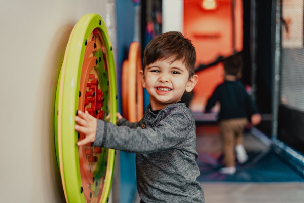 little boy playing in the soft play area at Ready Set FUN! In Sandy Springs
