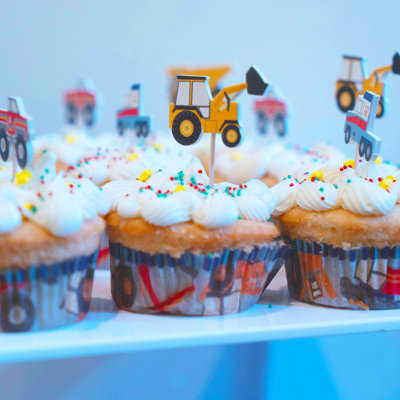 toddler birthday party construction theme